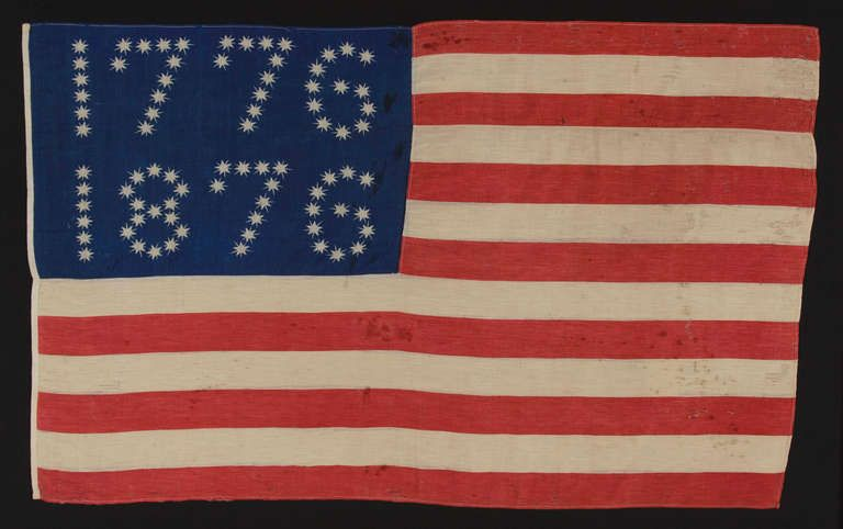 American Flag With 10 Pointed Stars That Spell 1776 1876 Flag Coloring Pages American Flag Flag