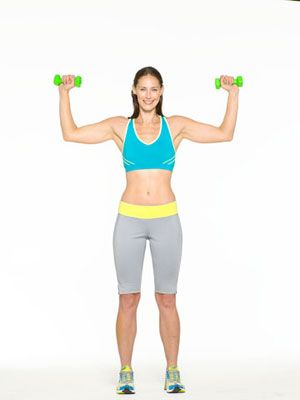 right to bare arms upperbody workout  hand weight