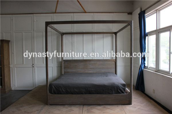 Solid Wood Bedroom Furniture Design Antique Unique King Size Bed