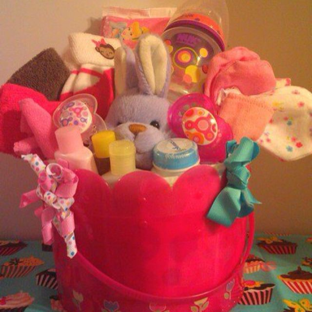 Cute baby easter basket idea hippity hoppity easters on its way cute baby easter basket idea really want make one for my god daughter negle Choice Image