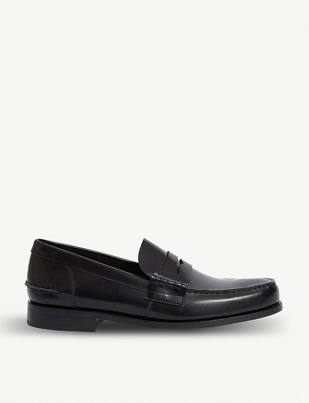 613bc953027 ALLSAINTS Pelhem leather loafers   boys shoes   Leather loafers ...