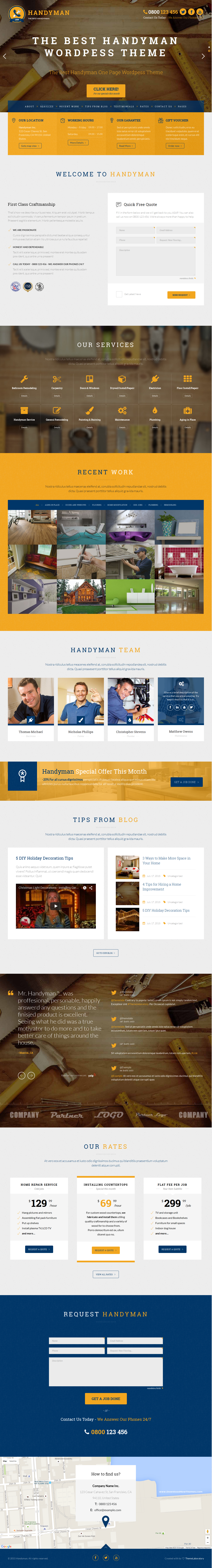 handyman craftsman business theme