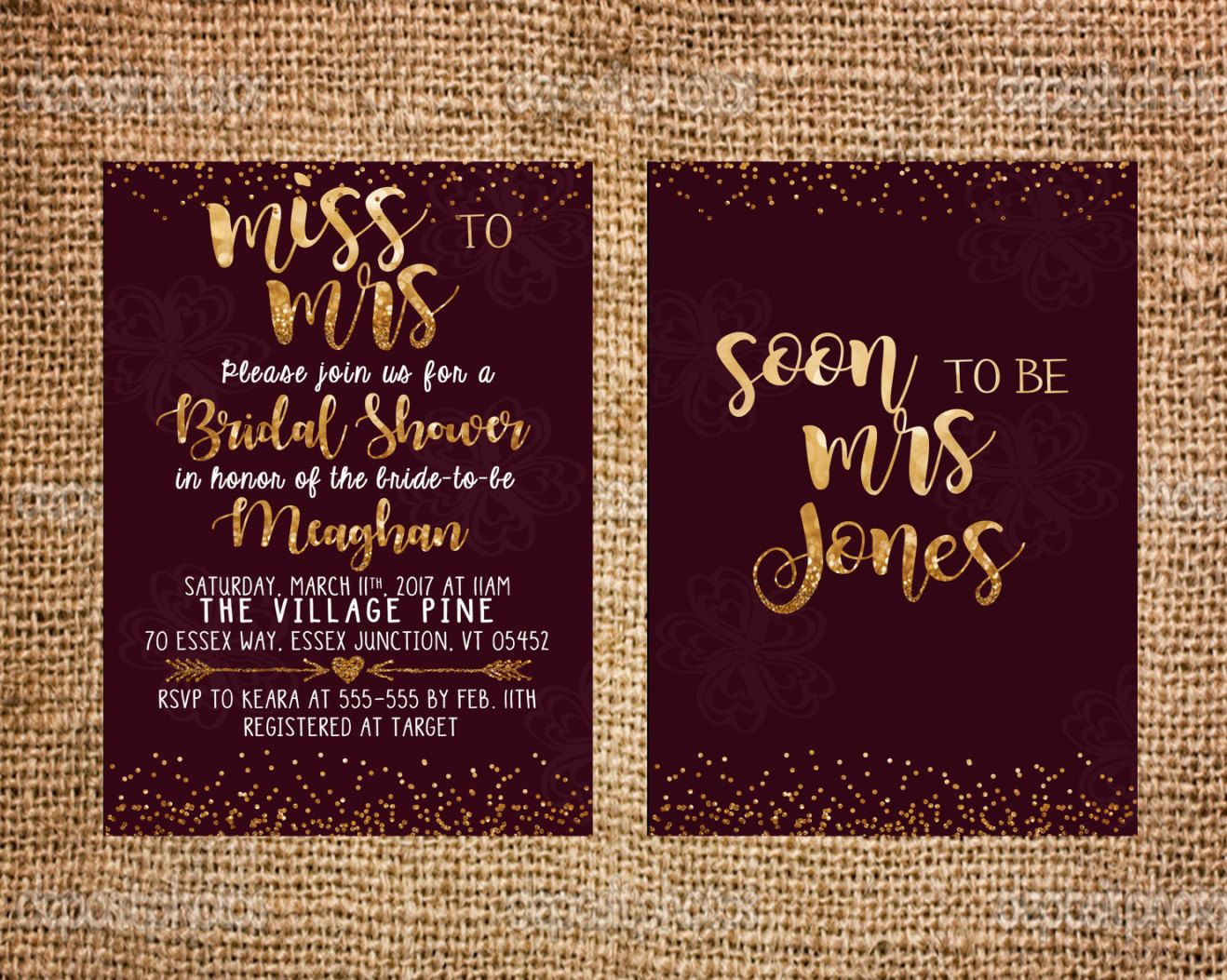 Maroon gold bridal shower invitation glitter invitation wine red maroon gold bridal shower invitation glitter invitation wine red burgundy classic invitation printable stopboris Images