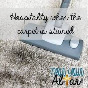 Near Your Altar Hospitality when the carpet is stained