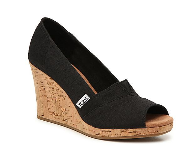 Women Classic Wedge Pump Black Source by DSW Shoes toms