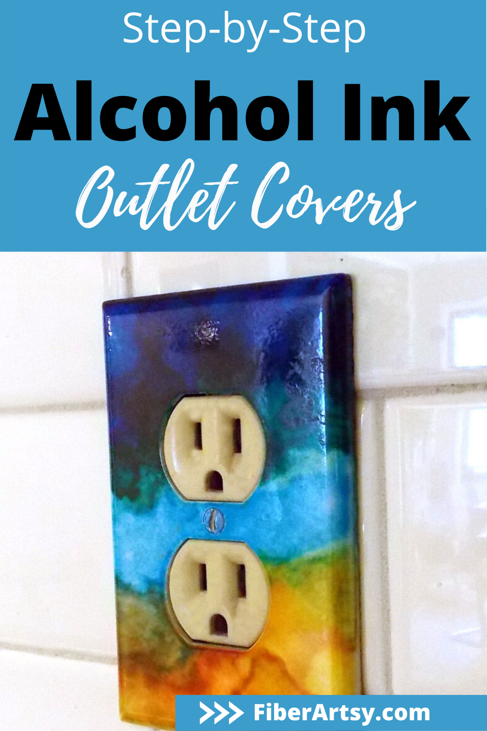 How To Use Alcohol Inks On Switch Plates Fiberartsy Com Alcohol Ink Decorating On A Budget Alcohol