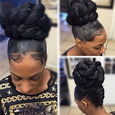 Love this bun styled by #DetroitStylist @hair_scientist Classic #cocoblackhair #hairstyle Coco Black Hair provide the most natural looking hair and wigs Change yourself today!