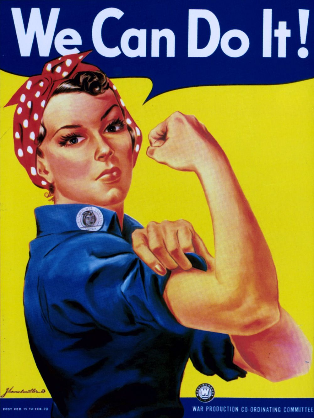 """Rosie the Riveter - """"We Can Do It!"""" #history #soldier #"""