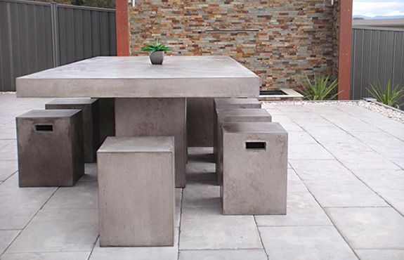 Cement Patio Furniture.Garden Table For Home Design Garden Furniture Garden Table