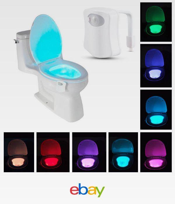 8 Color Led Motion Sensing Automatic Toilet Night Light Bathroom Night Light Motion Activated Light Night Light