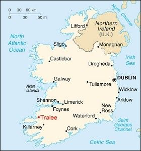 Tralee, Ireland County Kerry  where my maternal family line is
