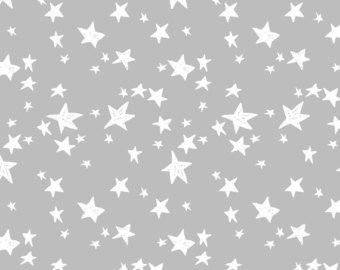 Grey Fabric Stars Slate Nursery By Andrea Lauren Cotton The Yard With Spoonflower