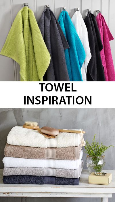Bright and colourful towels from jysk pick from a range of colours and sizes to