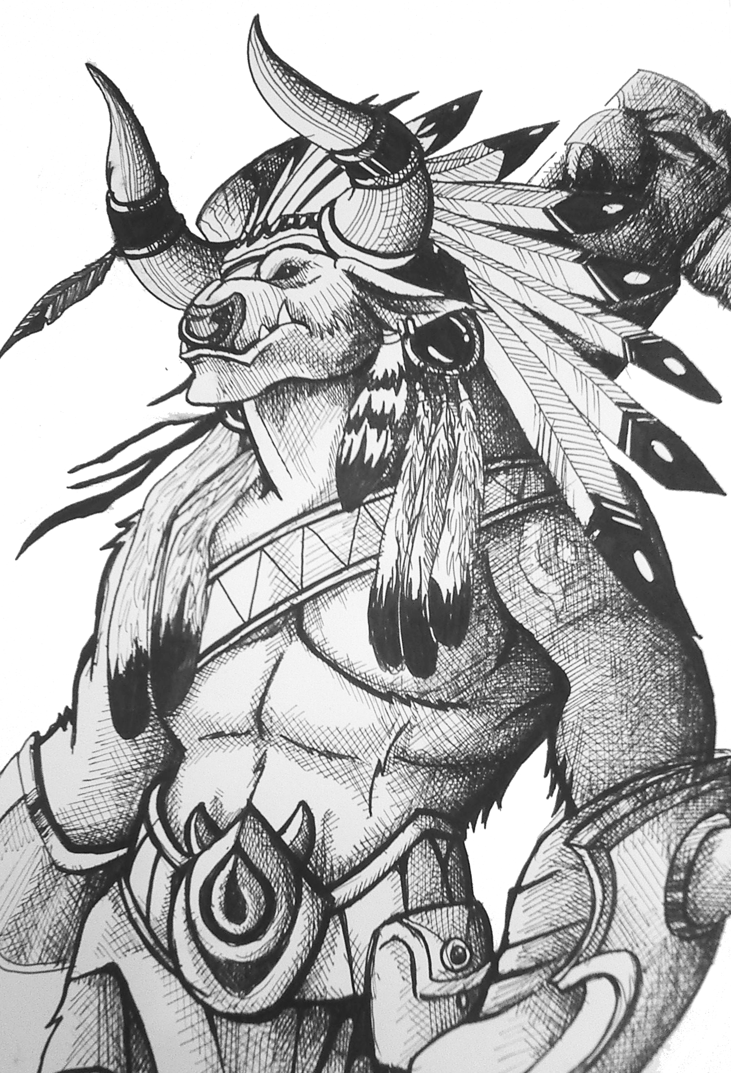 high chieftain baine bloodhoof art warcraft horde wow in 2018