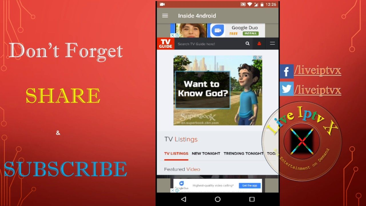 Inside 4ndroid Apk for Watch Free Live TV Movies Sports On