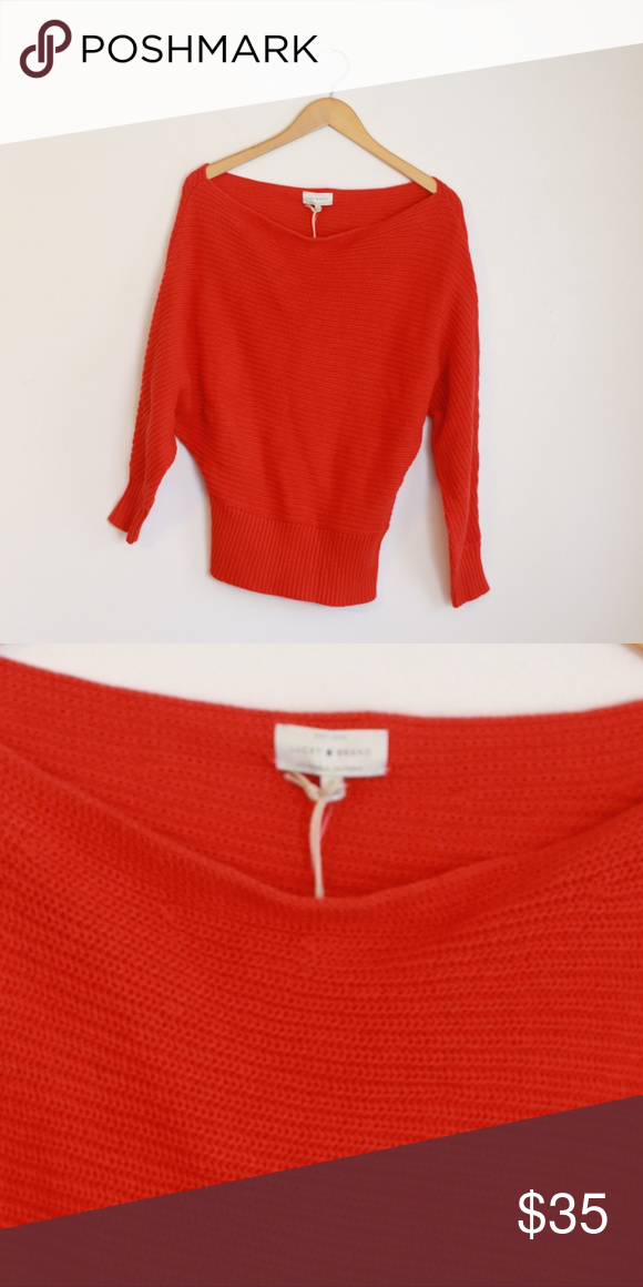 137186910bc5 Soft and comfortable off-the-shoulder sweater by LUCKY BRAND! Red color.  Long sleeves. 60% cotton