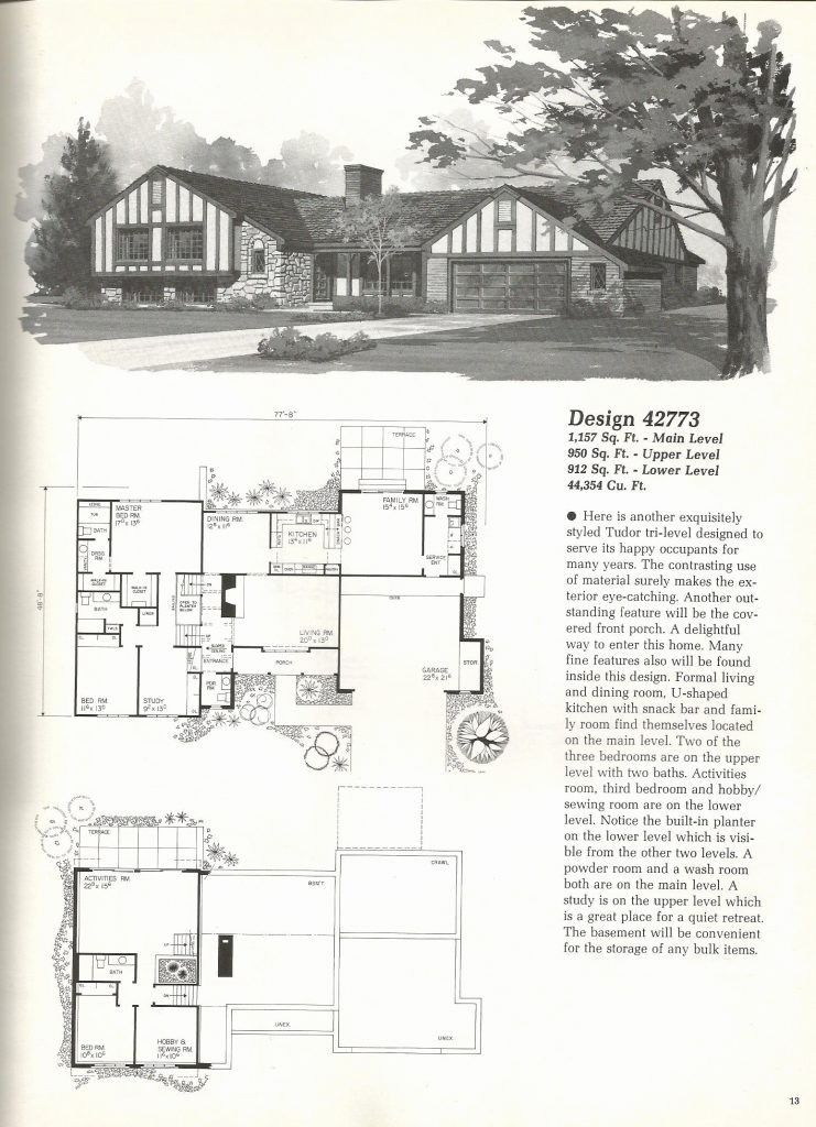 1970s Ranch Style House Plans Awesome Tri Level House Plans 1970s Lovely Tri Level House Plans New Bi Vintage House Plans Tri Level House Vintage House