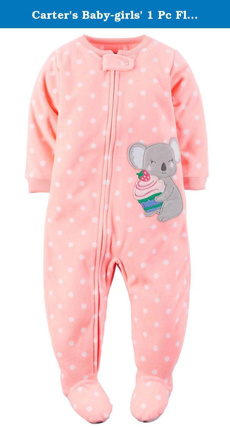 f73b65e1e Carter s Baby-girls  1 Pc Fleece Footed Blanket Sleeper P…