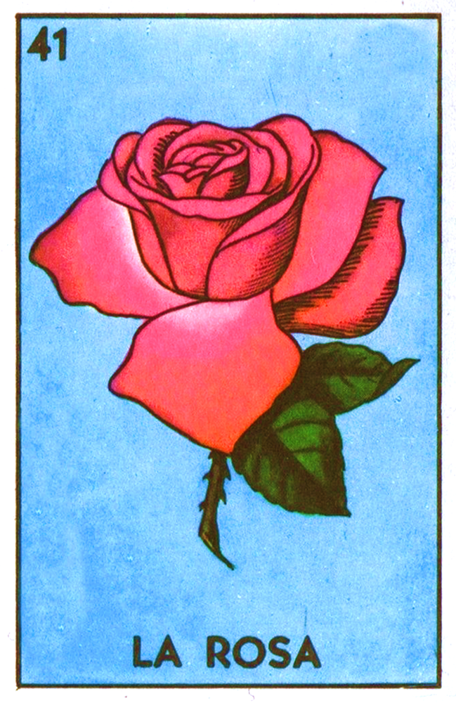 La Rosa Acrylic Painting 8x10Loteria Cards