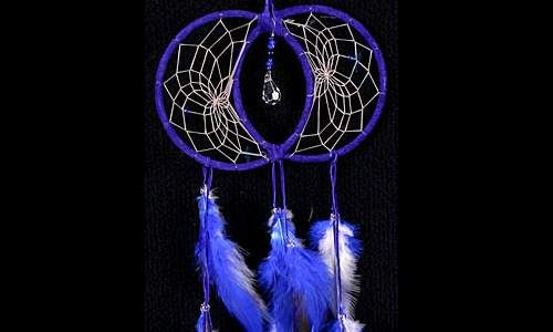 What Are Dream Catchers Extraordinary Blue Soul Connection Dream Catcher With Swarovski Crystal Decorating Inspiration