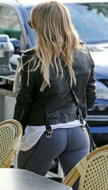 Hilary Duff Leggings Ass