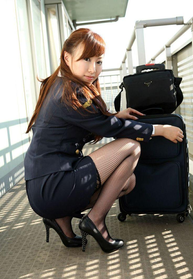 чулка видео в стюардессы