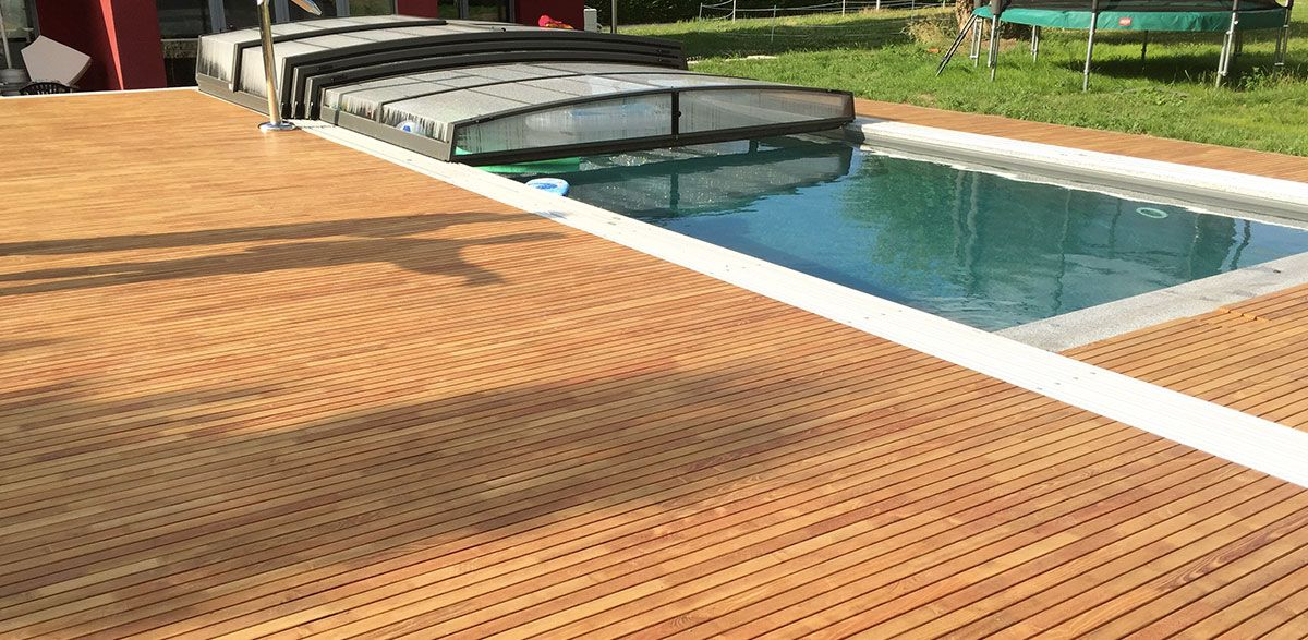 Robinienholz Terrasse poolumrandung aus robinie robinienholz ist das härteste holz