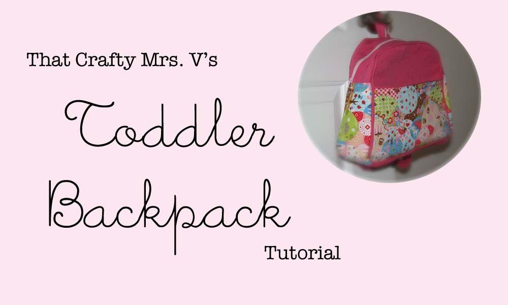 Toddler Backpack Tutorial
