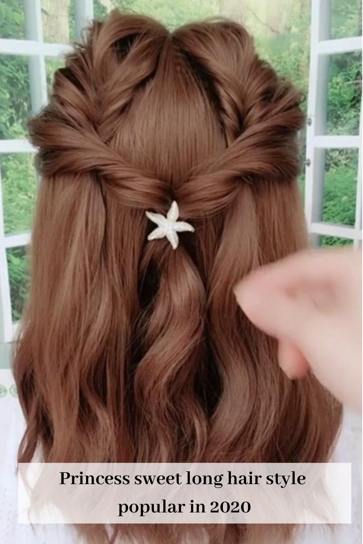 Princess Sweet Long Hair Style Popular In 2020 In 2020 Hair Styles Long Hair Styles Long Hair Girl