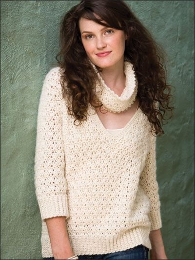 Crochet - Crochet Clothing - Sweater Patterns - Cowled Pullover. //  ANOTHER STILL ON MY LIST!!! A