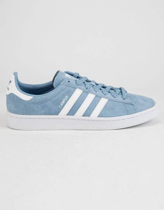 16e02da4ac93 ADIDAS Campus Ash Blue   Running White Shoes