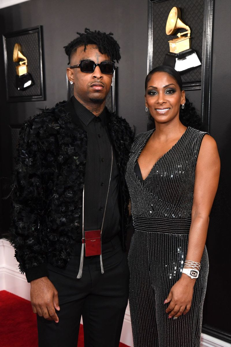 21 savage and his mother in 2020 celebrity red carpet grammy awards celebrity look celebrity red carpet grammy awards