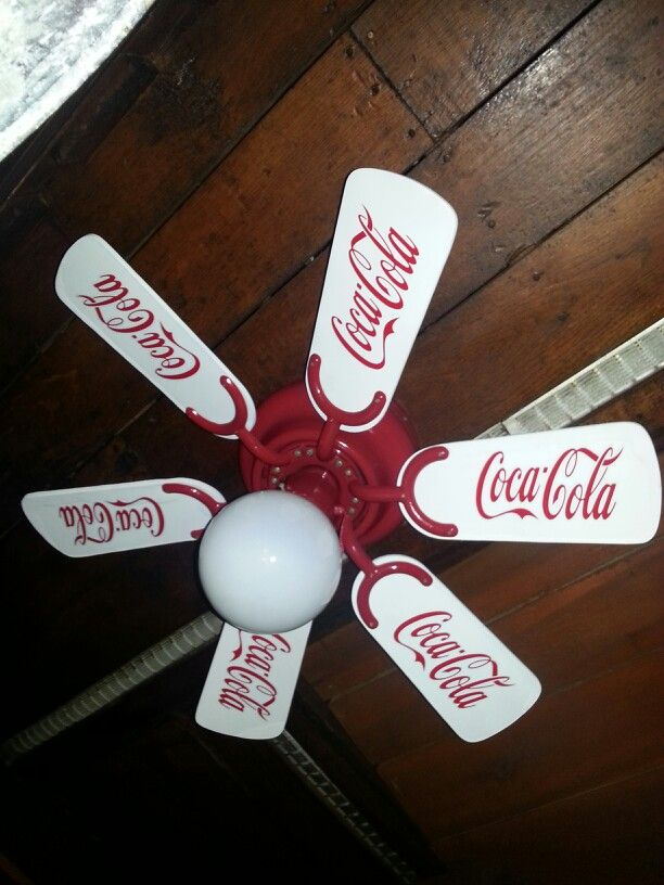 Coca cola ceiling fan take any fan repaint the blades and all coca cola ceiling fan take any fan repaint the blades and all mechanisms the aloadofball Gallery