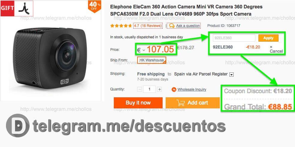 EleCam 360 Action por sólo 8885 - http://ift.tt/2gDGiep