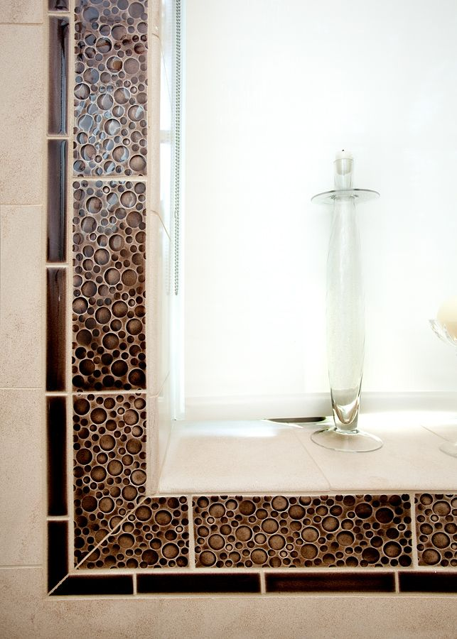 tile around window | ... window use the more expensive funky tile ...