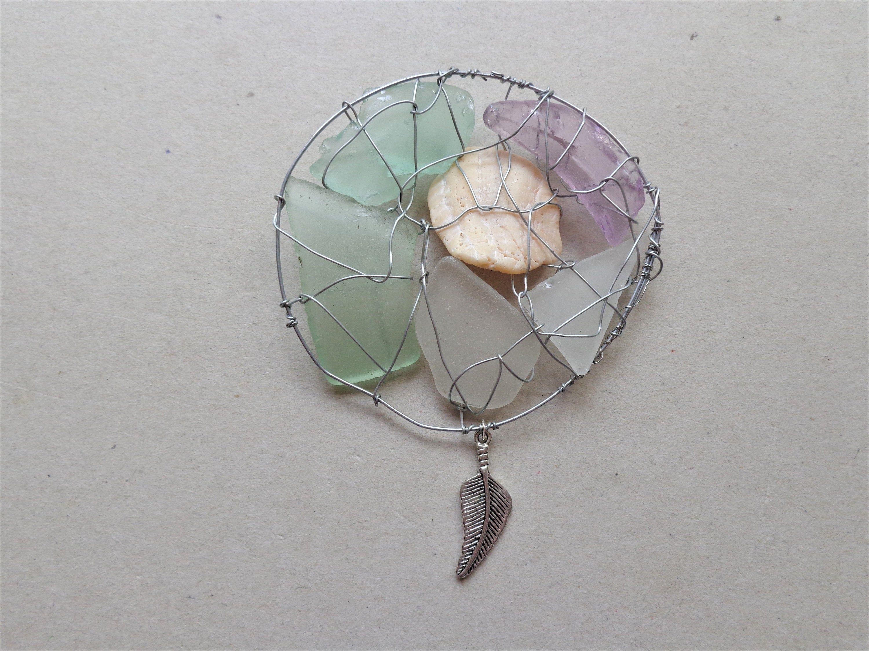 Adjustable Cornish sea glass bangle-Beach glass jewellery-Mermaid/'s tears-Green sea glass-Surf jewellery-Fish-Sea shells