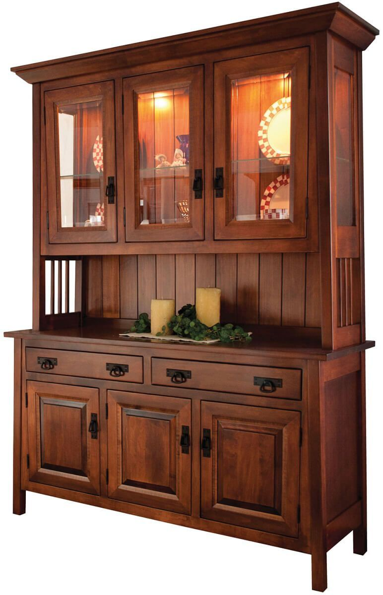 Garcia 3-Door Mission Style Hutch - Countryside Amish Furniture