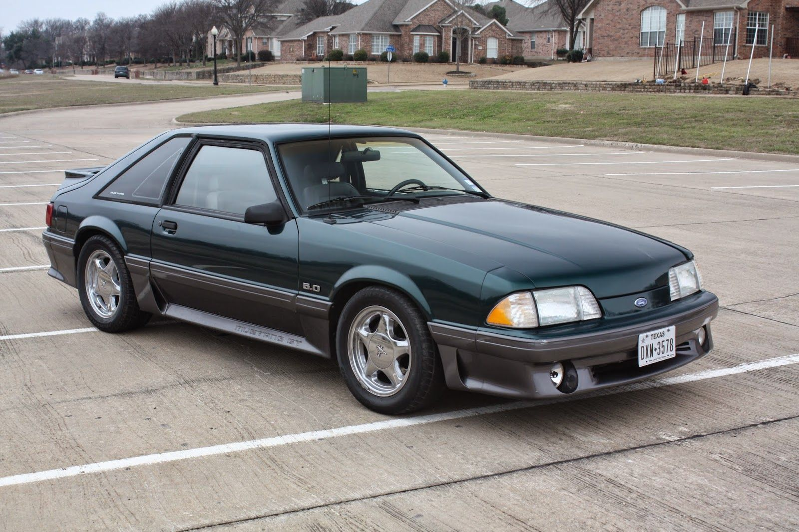1991 Mustang Gt 5 0 5spd Emerald Green Found This On Craigslist Love This Color Has Off Road Hpipe Flows Masters J Fox Body Mustang Green Mustang Mustang Gt