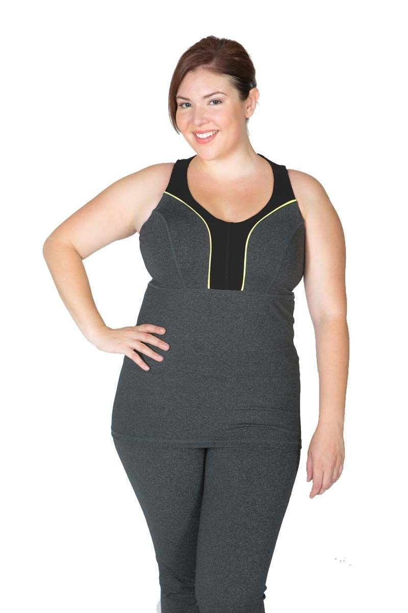 89f2931be Plus Size activewear! Fantastic styling. 100% functional! Made for a lady  with curves A Lola Getts favorite! Wear anywhere - this feminine tank is  great for ...