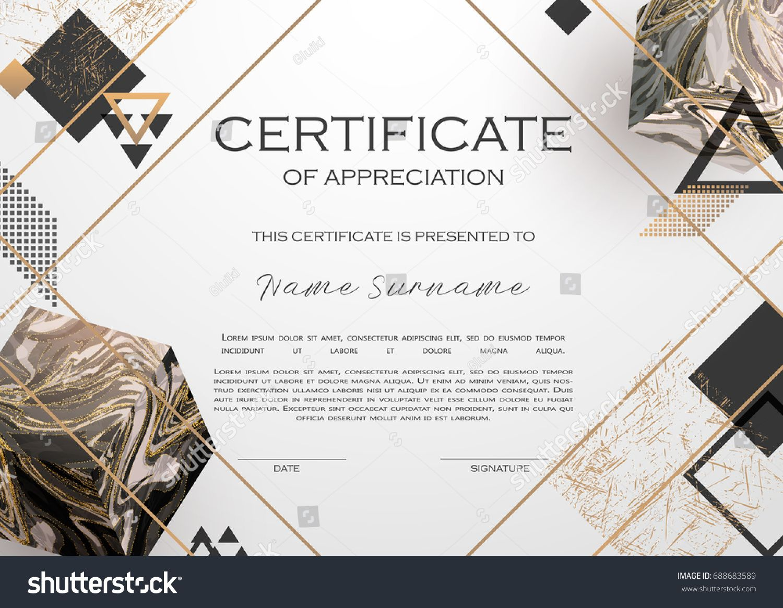 Qualification Certificate Of Appreciation Design Elegant Luxury And