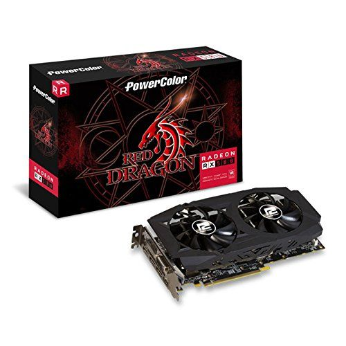 Powercolor Axrx 580 8gbd5 3dhdv2 Oc Amd Radeon Rx 580 8gb Red Dragon V2 Graphics Card Graphic Card Power Colors Red Dragon