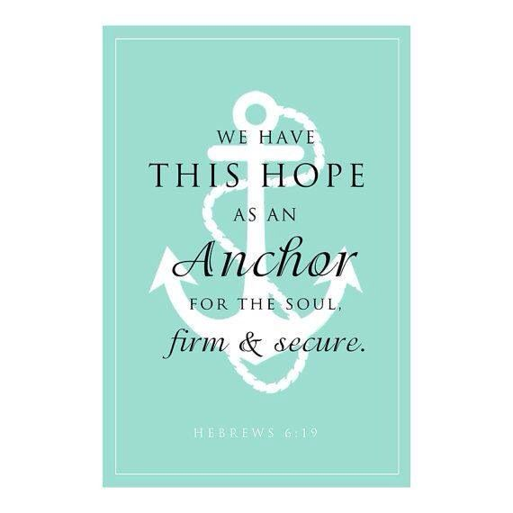 Good Anchor For The Soul Scripture Verse   Anchor Typography  Photo Gallery