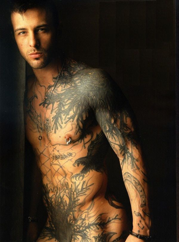 I Don T Usually Like This Much Of A Full Body Tattoo But This Is Neat Mens Body Tattoos Full Body Tattoo Nick Hawk