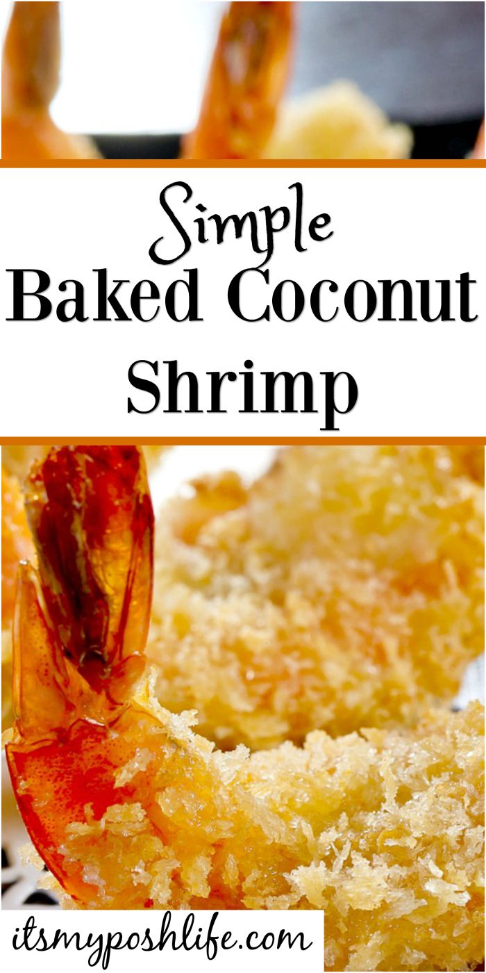 Simple Baked Coconut Shrimp- the perfect appetizer that isn't fried. We love these on game day too!