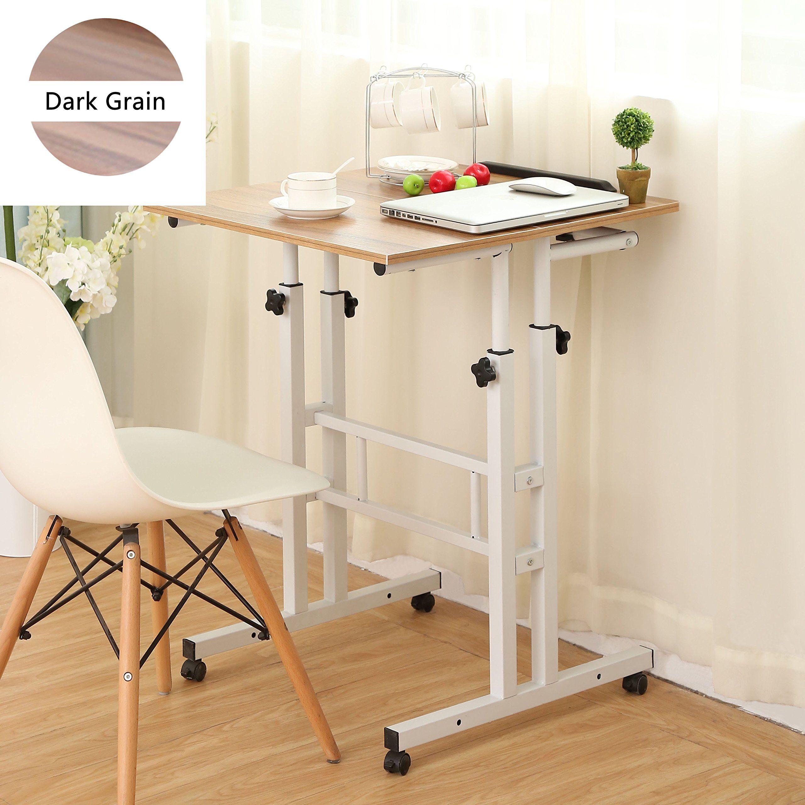 Sdadi Adjustable Height Mobile Stand Up Desk Computer Workstation ...
