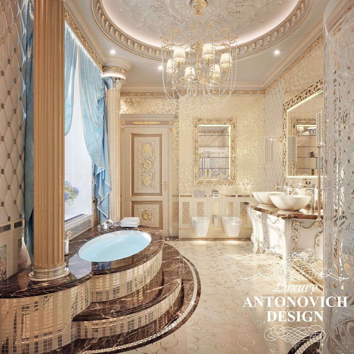 Beautiful dressing room design in dubai by luxury antonovich design - Antonovich Design Luxury Bedroom Recherche Google