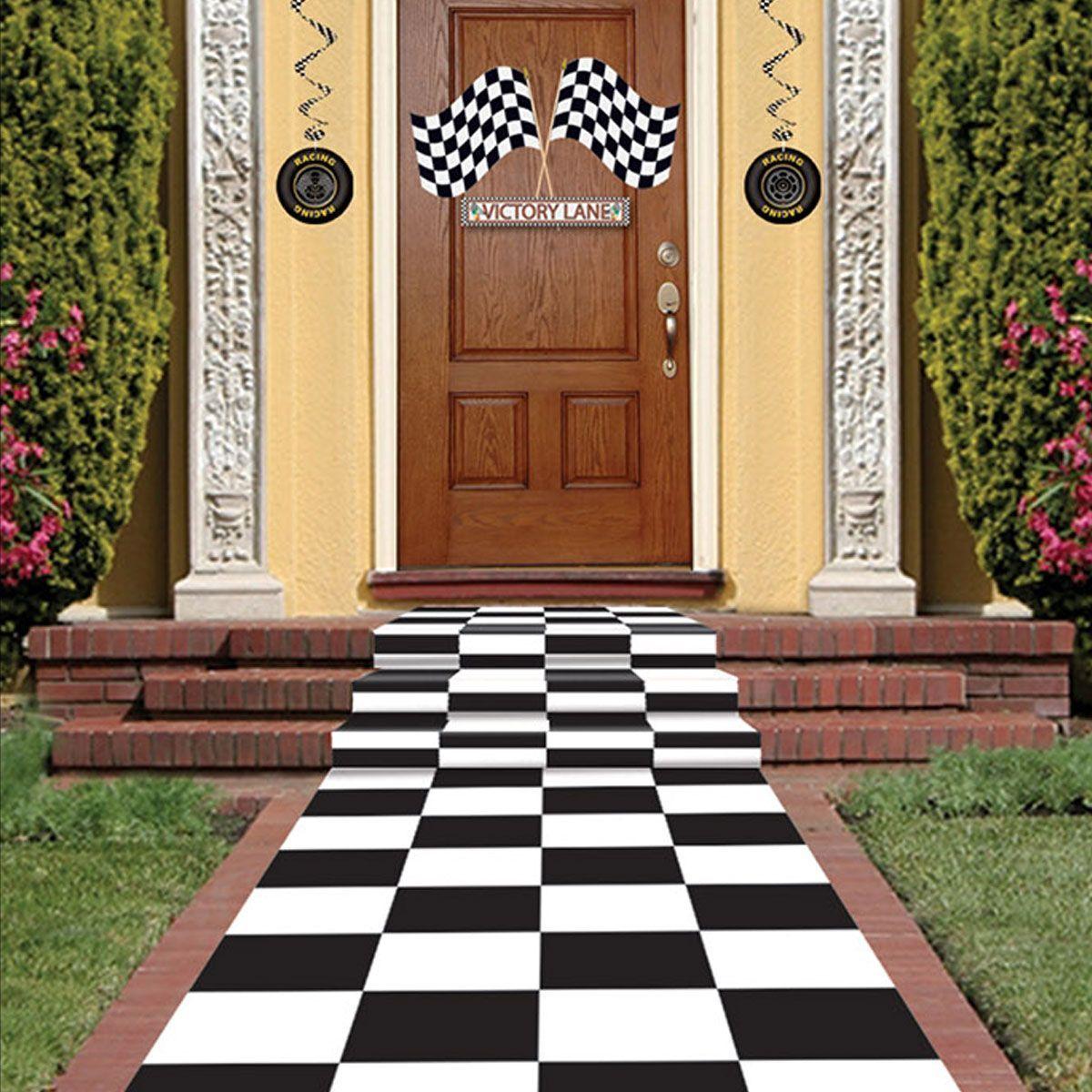 Checkered Floor Runner Wonderland Party Decorations Checkered Floors Alice In Wonderland Party