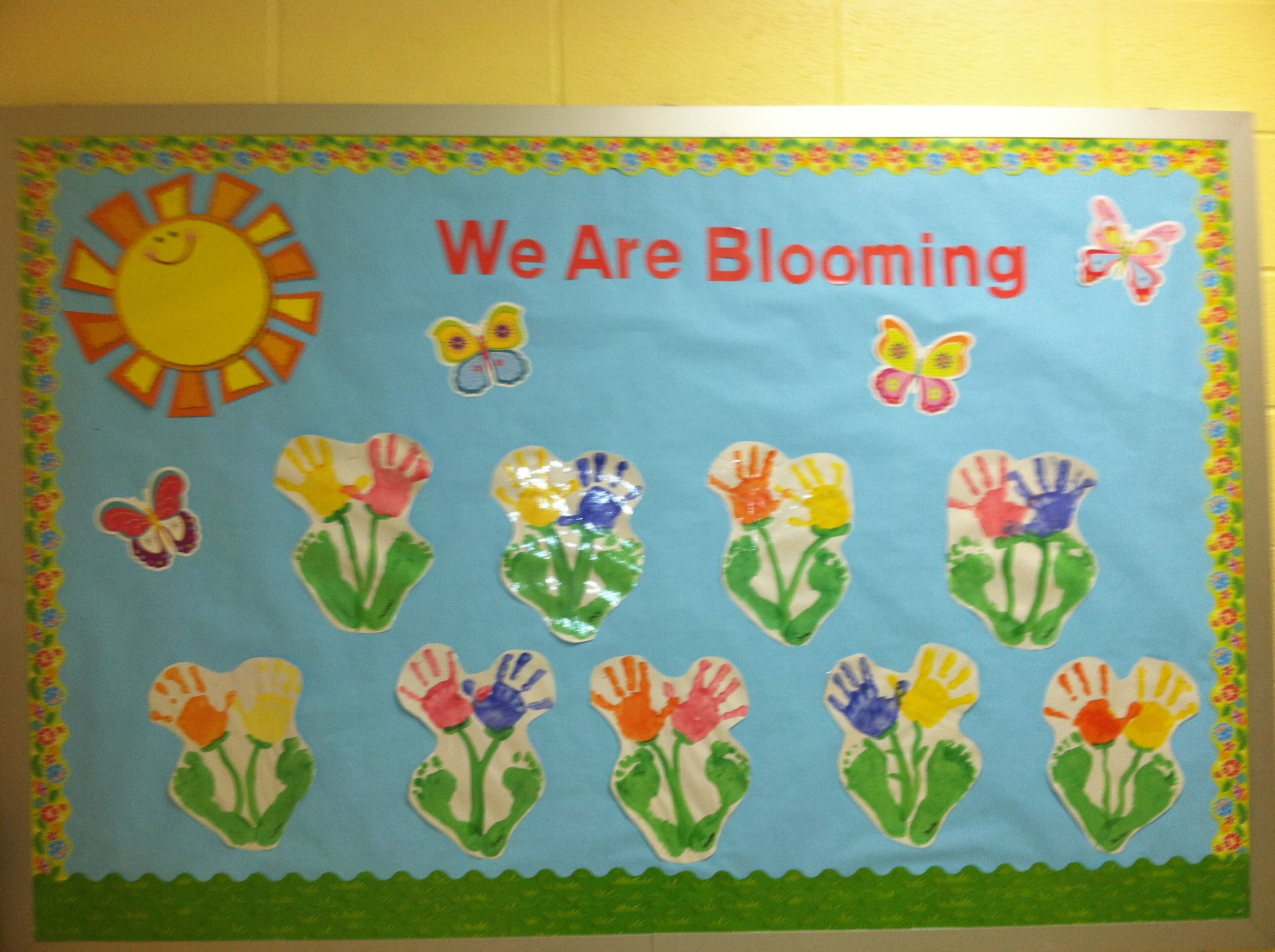 My Spring Bulletin Board Super Cute And Colorful Preschool