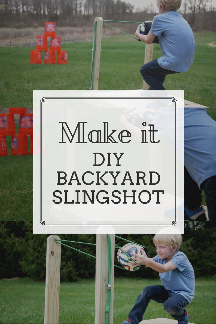 diy outdoor game idea make this backyard slingshot free tutorial
