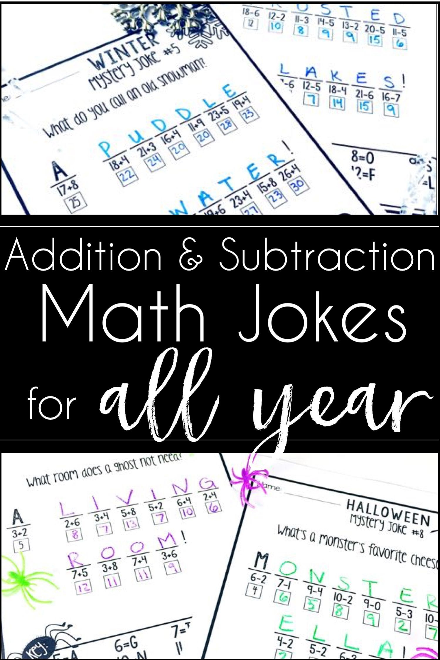 These Yearlong Math Printables For 1st And 2nd Grade Give